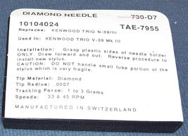 Pfanstiehl 730-D7 KENWOOD TRIO N-39/III V-39 Mk III NEEDLE STYLUS image 4