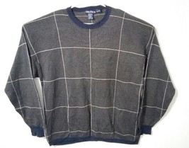 Nautica Men's XL Brown and Blue Striped Long Sleeve Crew Neck Sweater Pu... - $27.88