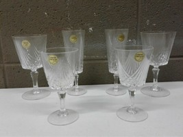 Cristal D'Arques Taille Couple Pack 2 Each Water Goblet Champagne and Sherry Gl - $70.08