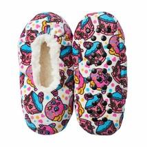 Shopkins Girls Fuzzy Sherpa Slipper Socks S M Shoe size 8 9 10 11 12 Cup... - $6.88