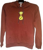 American Apparel California Fleece Hoodie -  Brown Giraffe Pullover Sweatshirt - $17.77