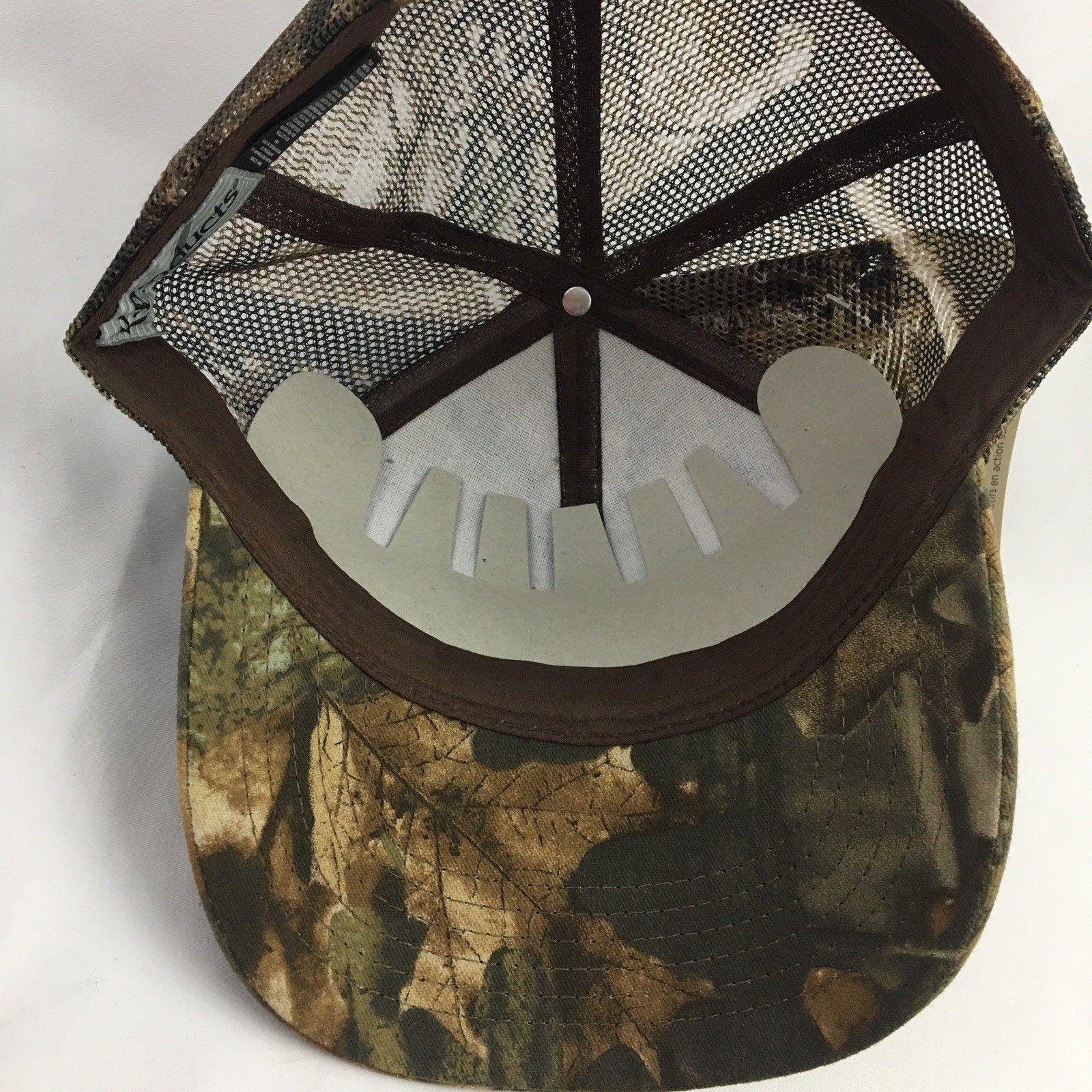 Merschman Seeds Camo Baseball Cap Hat Realtree Camouflage Mesh Mens NWT Brown