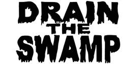 Drain The Swamp White & Black Vinyl Decal Bumper Sticker - $5.55