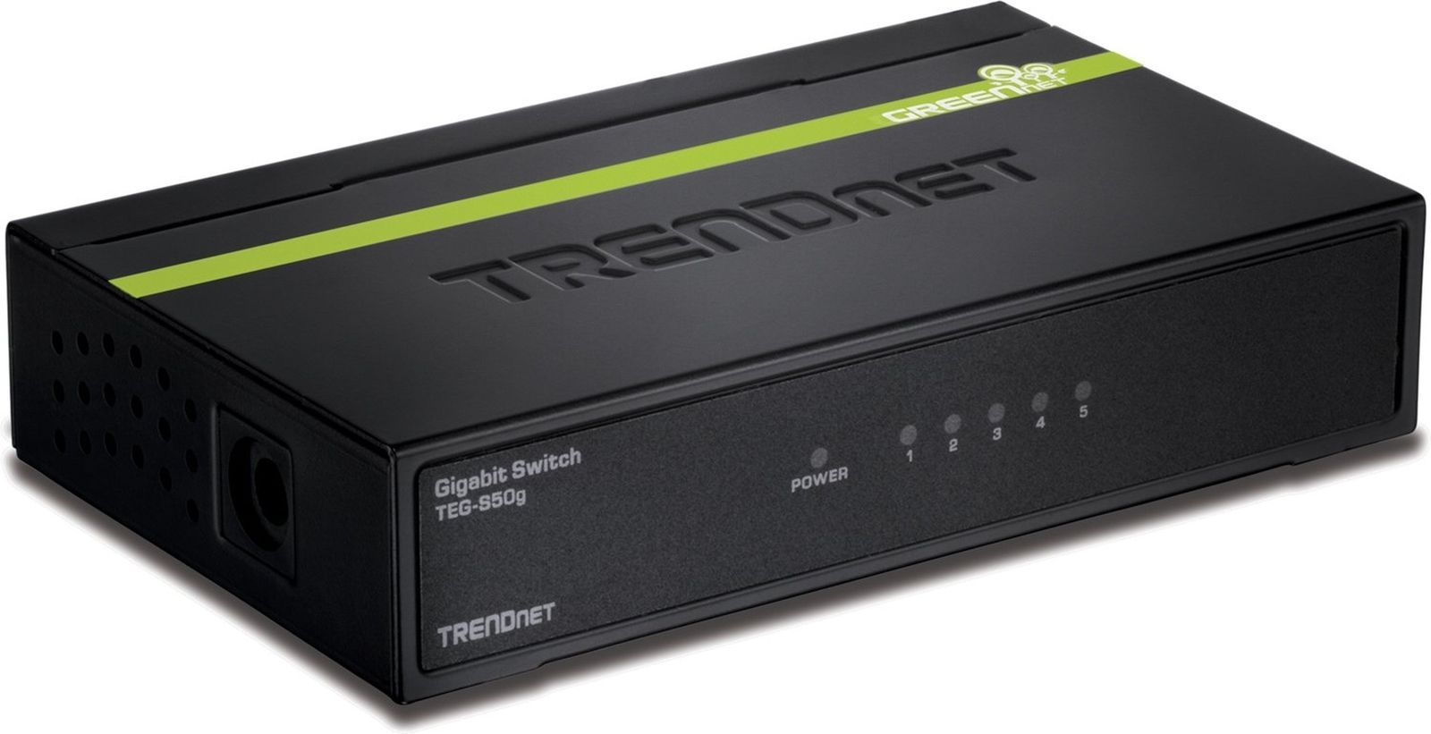 TRENDnet 5-Port Unmanaged Gigabit GREENnet Desktop Metal Housing Switch, 10 G...