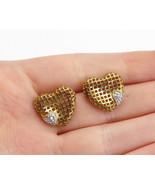 925 Sterling Silver - Vintage Topaz Two Tone Love Heart Drop Earrings - ... - $28.10