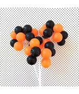Halloween Party Balloon Cake Toppers (3 Stems), Halloween Cake Toppers, ... - $14.85