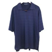 Ralph Lauren Polo Golf Shirt Mens Size XL Navy Blue Pima Cotton Striped  - $14.99