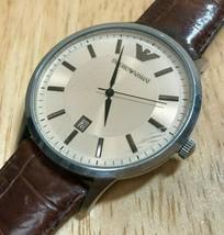 Emporio Armani AR-2427 Men 50m Steel Leather Analog Quartz Watch Hour~Ne... - $47.59 CAD