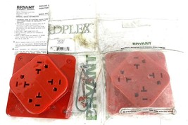LOT OF 2 NEW BRYANT 21254R RECEPTACLES 20A, 125V