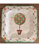 Handmade in ITALY for STARBUCKS green apple tree square plate - $16.82