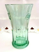Vintage Coca Cola Glass Green Libby Flared Tumbler Heavy Duty Coke Cup 16 ounces