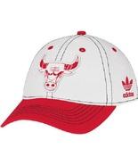 Adidas Women's Basic Slouch White Adjustable Hat Cap CHICAGO RED BULLS - $20.00