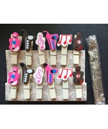 12pcs Wooden Pegs,Photo Clips,Pin Clothespin,Birthday Party Favor Decora... - $0.90