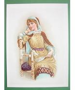 ROYAL BEAUTY Queen Elizabeth Daughter White Rose of York - COLOR Antique... - $17.96