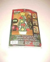 2002 Plaid Bucilla Felt Topper Christmas Tree Green Vintage Yellow Item ... - $29.69
