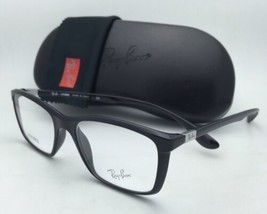 Brand New RAY-BAN Eyeglasses LITEFORCE RB 7036 5206 52-17 145 Shiny Black Frames