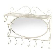 White Mirrored Wall Shelf - $39.95