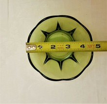 Vintage Anchor Hocking Green Panel Bowls w/ Flared Scalloped Edges (2) - $51.47