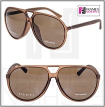 GUCCI GG1094S Aviator Brown Translucent POLARIZED Sunglasses Unisex 1094... - $276.21