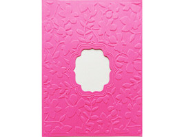 Floral Embossing Folder with Window, Great for Card Making! image 2
