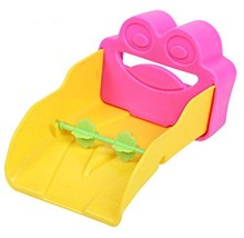 Colorful Water Faucet Extender Extending Faucet Hand Frog Shape Rose Red&Yellow image 2