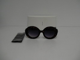 PRADA New Sunglasses womens round tortoise black arm spr 27QS Swarovski ... - $237.55