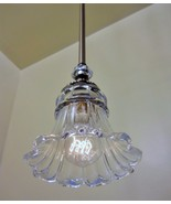 Brushed Nickel Illumina Elegant Mini Pendant Light Quality Glass Shade K... - $62.79