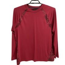 Reebok long sleeve Fitted Shirt Burgundy Men's Large - $15.84