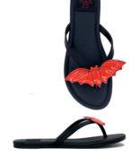 Strange Cvlt Cult YRU Red Bats Gothic Punk Halloween Horror Sandals Flat... - £34.41 GBP