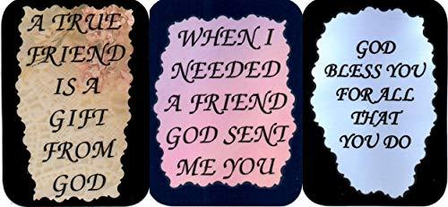 "Primary image for 3 Friendship Sayings #1 3"" x 4"" Love Note Inspirational, Family and Friends, Hum"