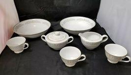 Rose China: 71 Piece Set, Joyce 2104, White w Gold Trim, Fine China, Japan image 8