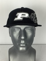Purdue Boilers One Size Fits All Fitted Baseball Hat Cap Black NEW - $23.75