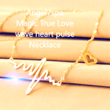 MAGIC SHAMANIC MAKE HIM OR HER LOVE ME MORE AND MORE  HEART WAVE NECKLACE - $22.39