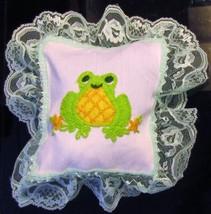 Zawadi Frog Needlepoint Pillow image 2