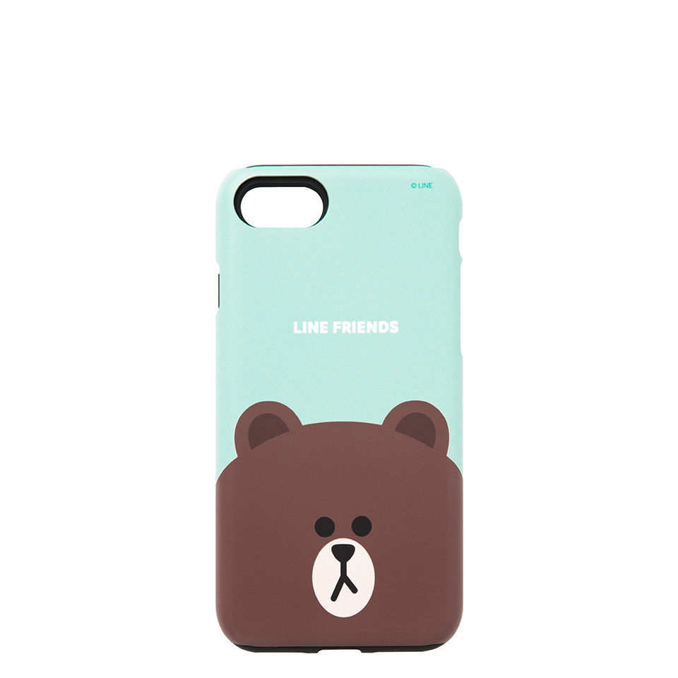 LINE Friends Guard Up Matte Case iPhone 7/7 Plus Hard Silicone Cover Mobile Skin