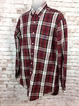 Ralph Lauren Blaire Long Sleeve Button Up Plaid Shirt 100% Cotton Mens Sz M red - $32.95