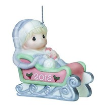 Precious Moments Baby's First Christmas-2015 Boy Ornament - $9.17