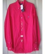 New Ralph Lauren Men Long Sleeve Button Down Shirt Size M Raspberry - $54.44