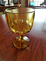 "* Libbey Amber Glass Hoffman House Water Goblet 4"" x 6""              # 1310 - $15.49"