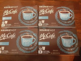 McCafe Keurig Light French Vanilla Sweet Arabica Coffee 4 Boxes 48 K-cup Pods - $35.27