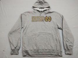 M144 New ADIDAS Notre Dame Fighting Irish Gray Hooded Sweatshirt Hoodie MEN'S - $24.97