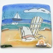 Fused Art Glass Adirondack Chair Summer Beach Design Soap Dish Handmade Ecuador image 2