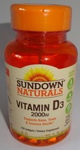 Sundown Naturals Super Potency Vitamin D3 2000 IU 150 Softgels (lot of 3) - $15.98