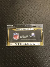 PITTSBURGH STEELERS NFL LICENSE PLATE AUTO TAG COVER GREAT GIFT! BLACK A... - $15.83
