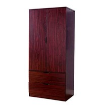Benjara Benzara BM141823 Sophisticated Two Door Wardrobe with Hanging Clothing S - $325.60