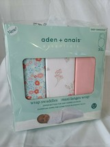 aden + anais Baby Swaddle Wraps Fairy Tale Flowers 3Pk 0-3 Months Floral... - $27.80