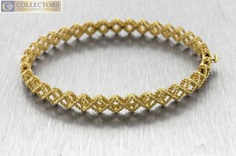 Ladies Roberto Coin 18K Yellow Gold Barocco Crisscross Bangle Bracelet 1... - $1,550.00