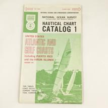 NOAA United States Nautical Chart National Ocean Atlantic Gulf Coasts Map  - $19.79