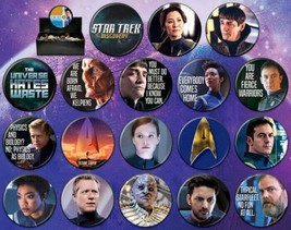 Star Trek Discovery TV Series Metal Photo Button Assortment of 144 NEW BOXED - $135.44