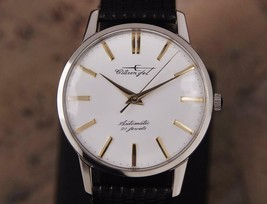 Citizen Jet Automatic 1960s Rare Made in Japan Men's Stainless 36mm Watch DSI46 - $583.11